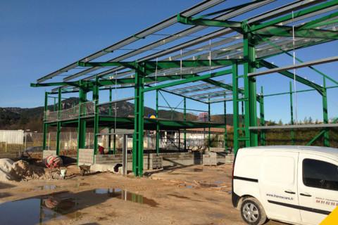 Bâtiment industriel // Fondations
